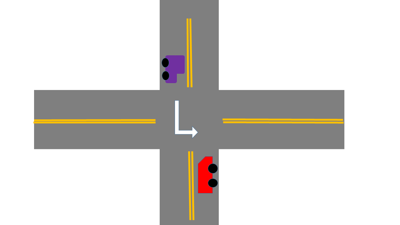 no-signal-intersection-left-turn-arrive-at-same-time