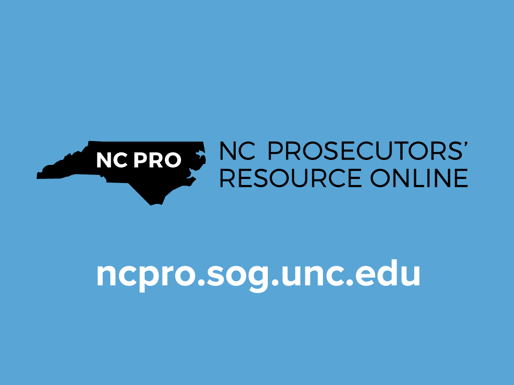 Hey Prosecutors: There's an App for That – North Carolina